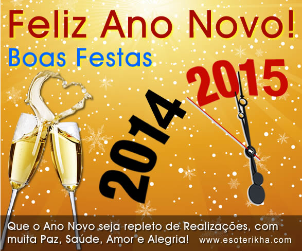 cartão de ano novo 2015