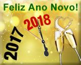 cartão de ano novo 2018