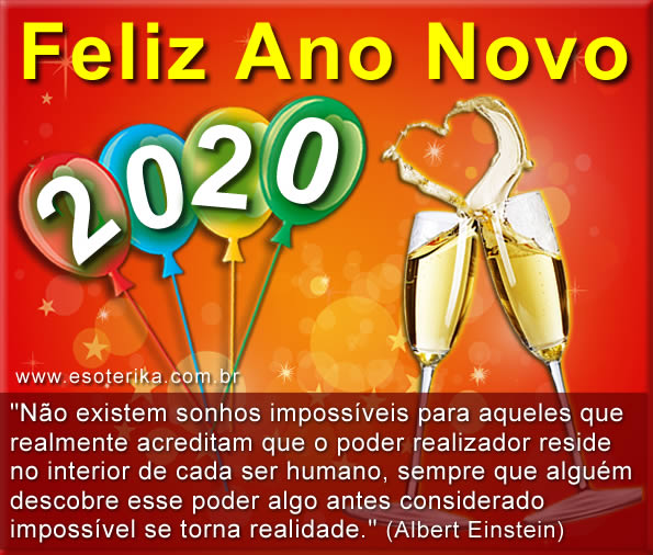 mensagem de ano novo 2020