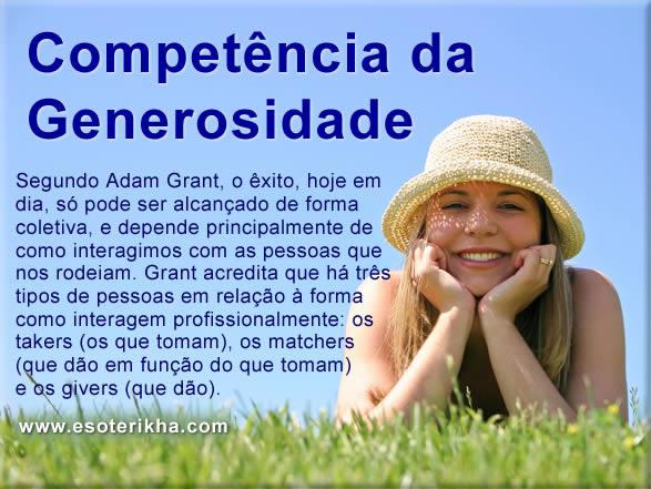 Como desenvolver a competência da Generosidade - A Teoria de Adam Grant