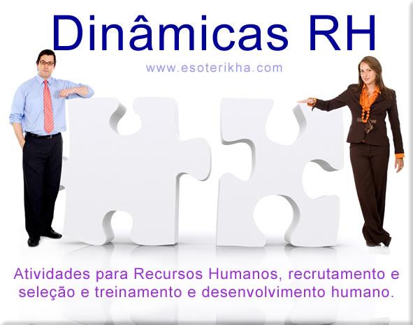 Dinamica RH - brincadeiras recursos humanos