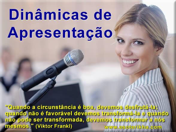 dinamicas de apresentação