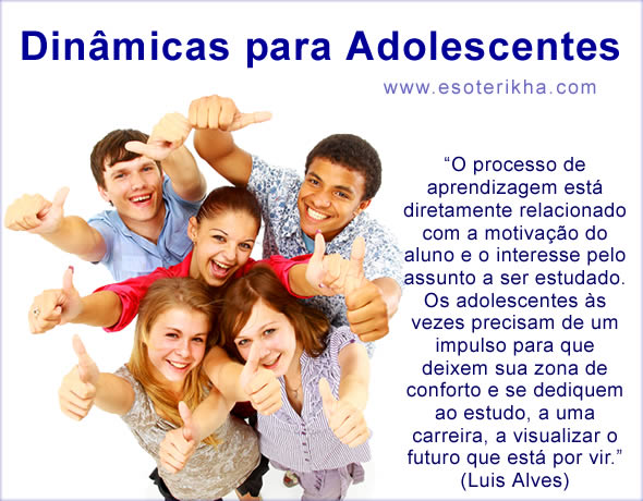 Dinâmicas para Adolescentes - Atividades para Adolescentes