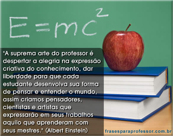 Well-known 35 Frases para Professor | DIA DO PROFESSOR 15 de outubro QJ46