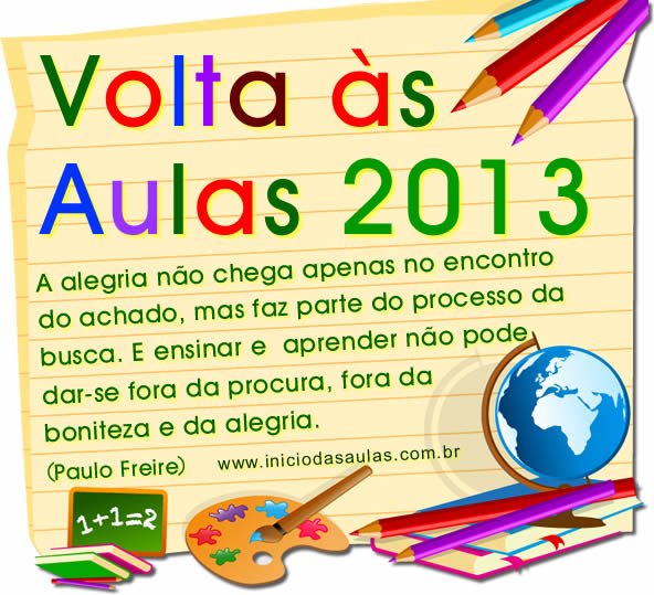 volta as aulas 2013