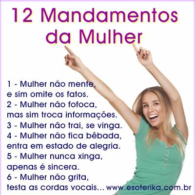 12 mandamentos da Mulher