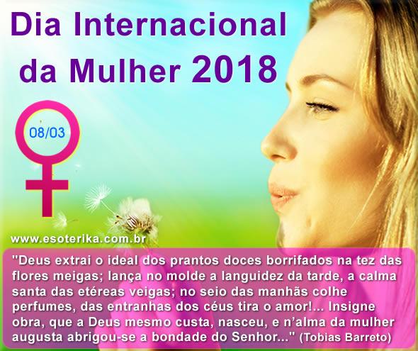 mensagem dia da mulher 2018, terça feira, 8 de março