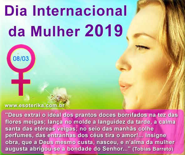 mensagem dia da mulher 2019, quinta feira, 8 de março