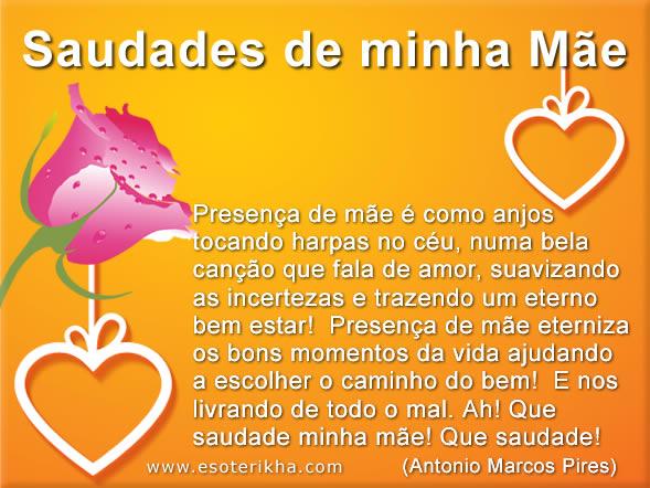 Mensagem De Saudades Para O Dia Das Mães