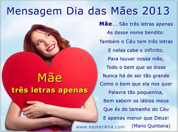 mensagem dia das mães 2013