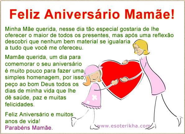 Mensagem Para Aniversário De Mãe O Maior Dos Presentes