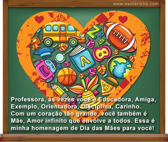 mensagem de dia das mães para professora