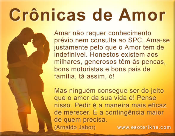 cronicas de amor, cronicas romanticas, texto de Arnaldo Jabor