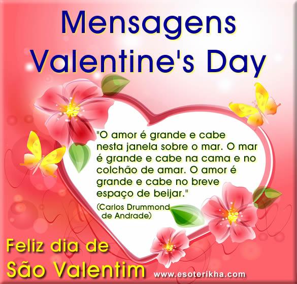 25 Mensagens De Valentines Day 1402 São Valentim Frases