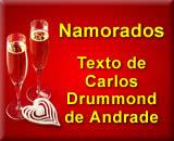 Mensagem para Namorados com texto de Carlos Drummond de Andrade