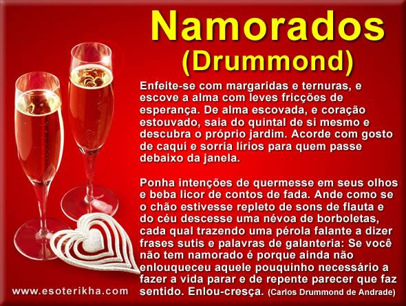 texto de dia dos namorados de Carlos Drummond de Andrade