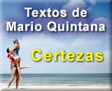 Certezas, texto de Mário Quintana para Namorados apaixonados