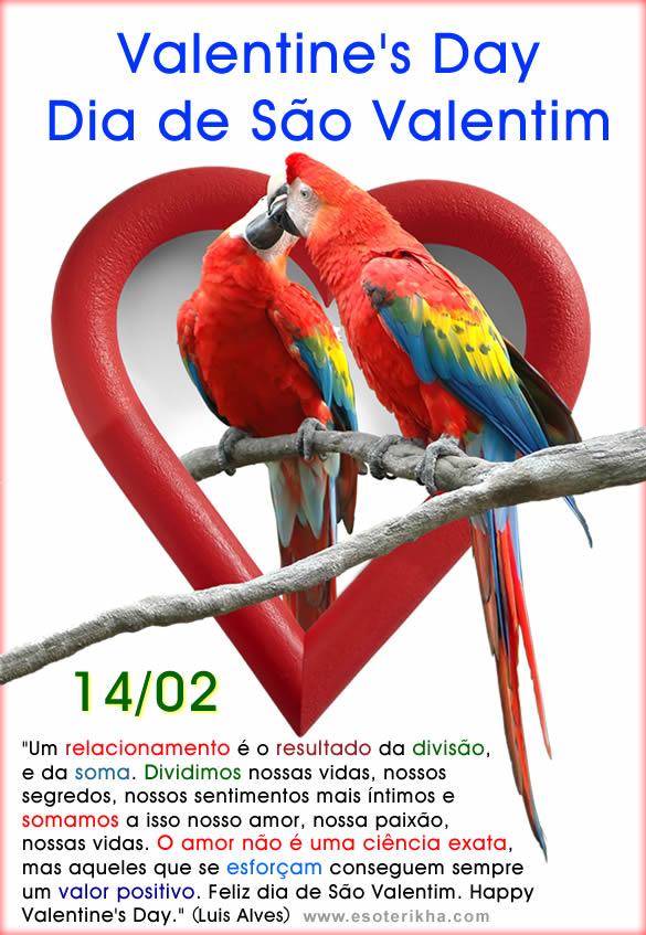 Mensagens de Valentines Day 14/02