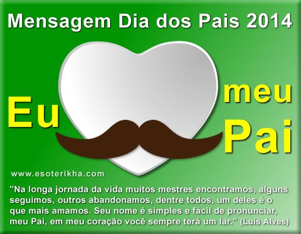 mensagem dia dos pais 2014