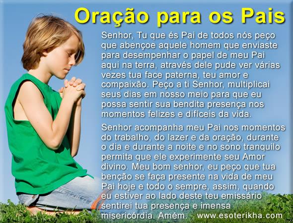 oração para os pais