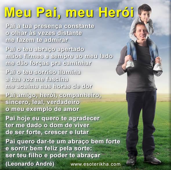 poema para os pais, meu pai, meu herói