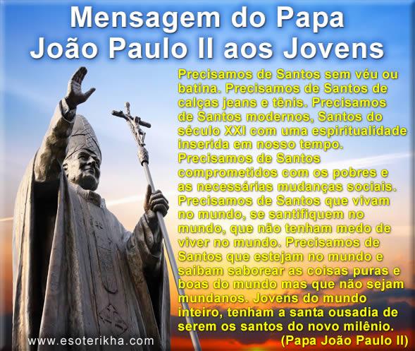 Mensagem do Papa João Paulo II aos Jovens da Jornada Mundial da Juventude