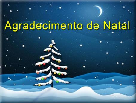 mensagem de agradecimento de natal e ano novo