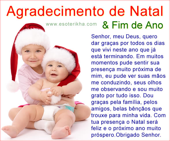 Mensagem de Natal de Agradecimento