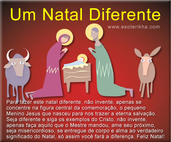 Mensagem de Natal Diferente