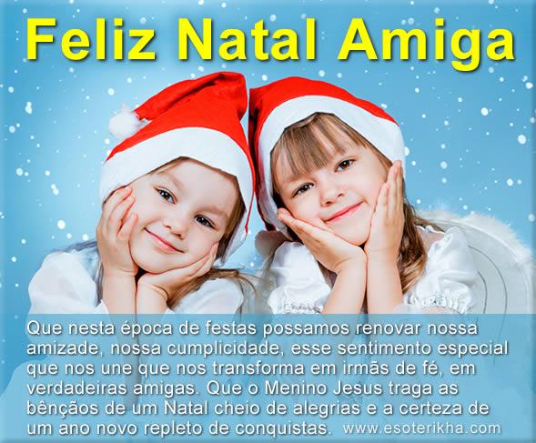 mensagem de natal para amigas