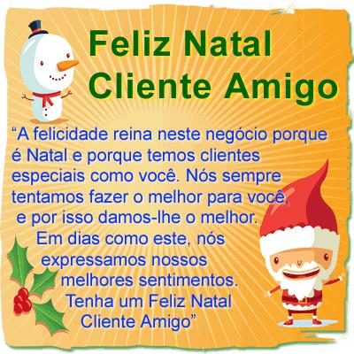 Mensagem de Natal para Clientes