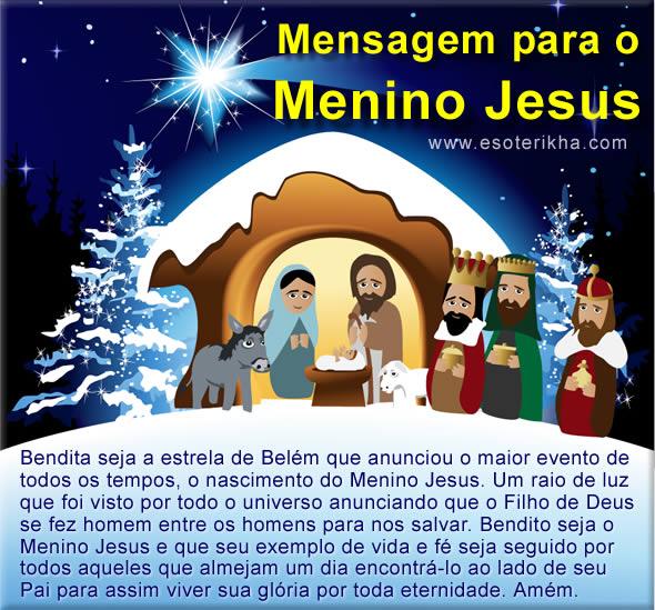 Mensagem Para O Menino Jesus Como Era Antigamente