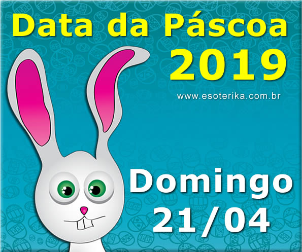 data da páscoa 2019, domingo, 21 de abril