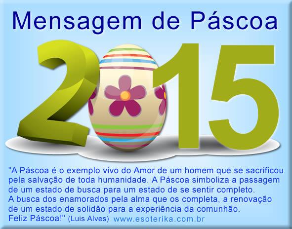 mensagem de pascoa 2015