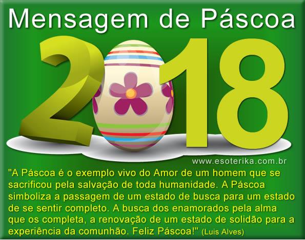 mensagem de pascoa 2018