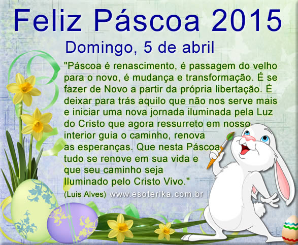 páscoa 2015, domingo 5 de abril