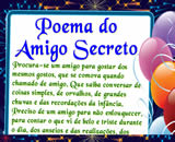 Cartas para Amigo Secreto, o poema do amigo secreto