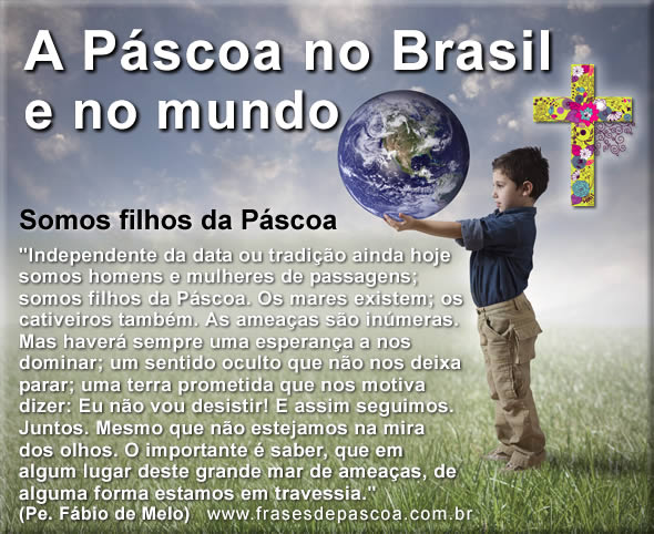 como se comemora a páscoa no Brasil e no mundo
