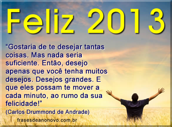 mensagem de ano novo 2013