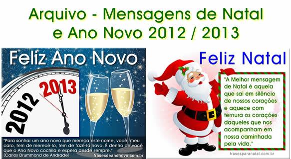 arquivo com mensagem de natal 2012 e mensagem de ano novo 2013