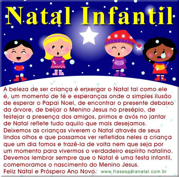 Mensagem De Natal Infantil Dizeres De Natal Boas Festas