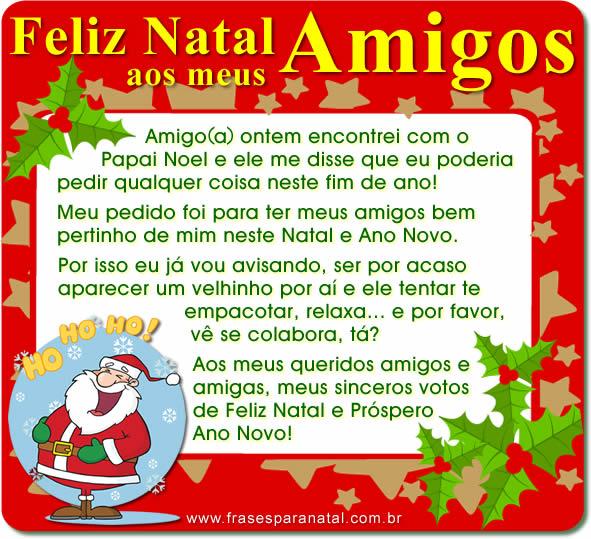 mensagem de natal para amigos do facebook e redes sociais