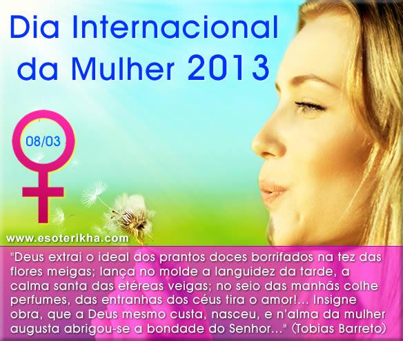 mensagem dia internacional da mulher 2013