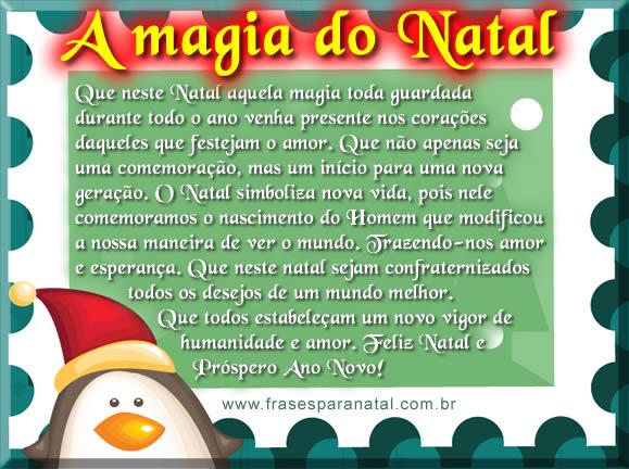mensagem natalina, a magia do natal