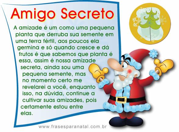 mensagem para amigo secreto
