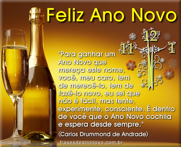 Mensagens de Natal e Ano Novo de Carlos Drummond de Andrade