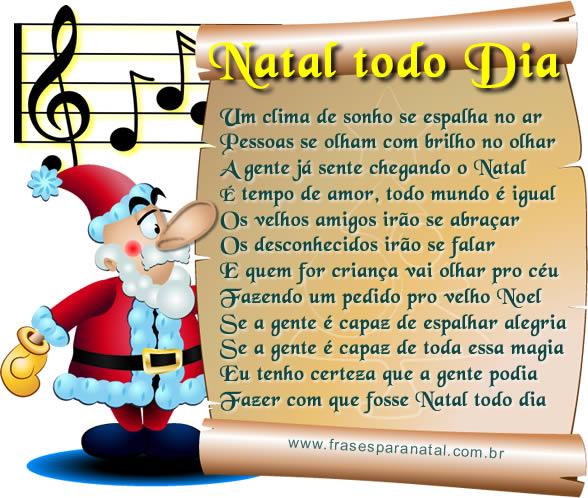 mensagens de natal com música