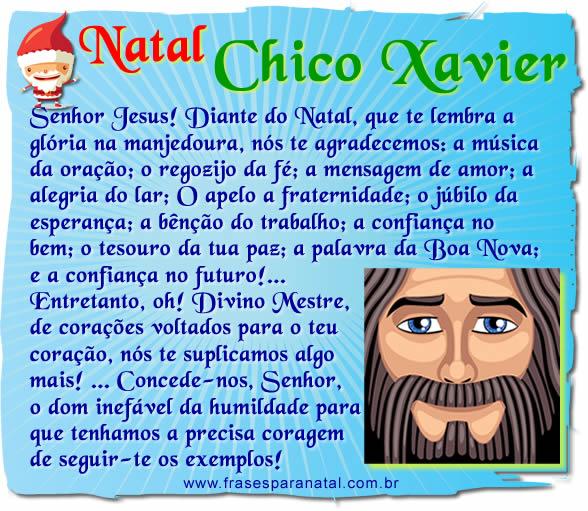 mensagens de natal de Chico Xavier