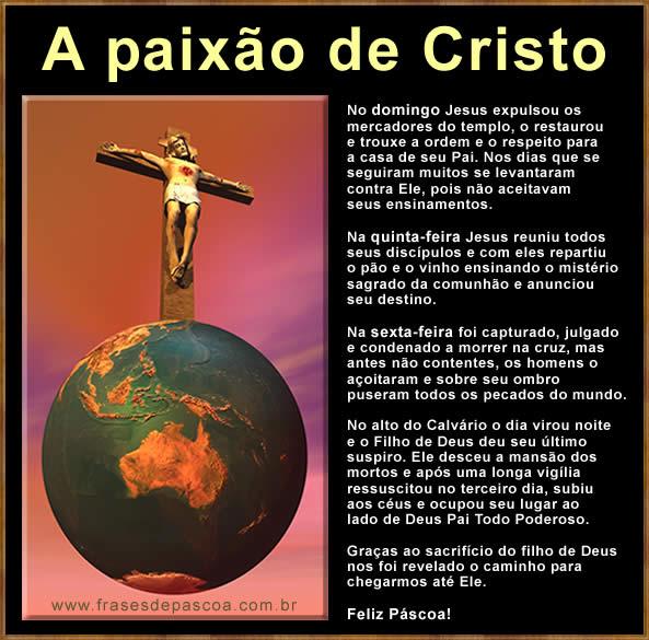 mensagens de páscoa, a paixão de Cristo, Mel Gibson o filme