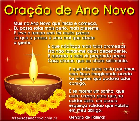 oração de Ano Novo